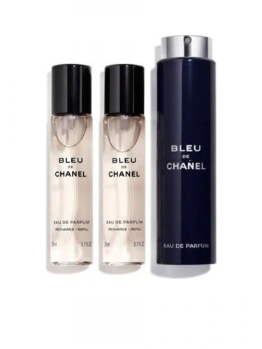 CHANEL BLEU DE CHANEL Eau De Parfum Travel Spray 3 x 20 ML.