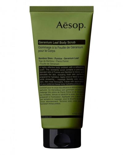 AESOP GERANIUM LEAF BODY SCRUB 180 ML.