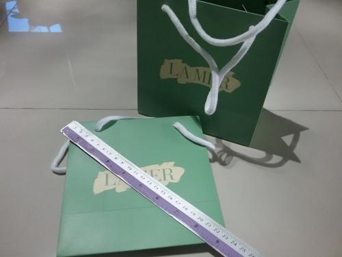 ถุงกระดาษลายแบรนด์ LAMER ขนาดใบ 9 นิ้ว ใส่เครื่องสำอางค์ใส่ของขวัญสวยๆ