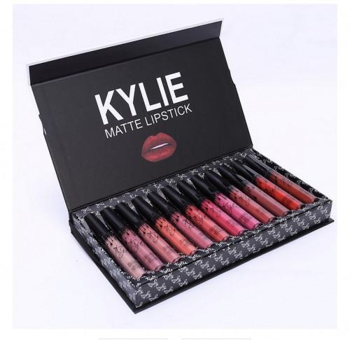ลิปเนื้อแมท Kylie ลิปสติก กล่องเซท 12 แท่ง Kylie Matte Liquid Lipstick