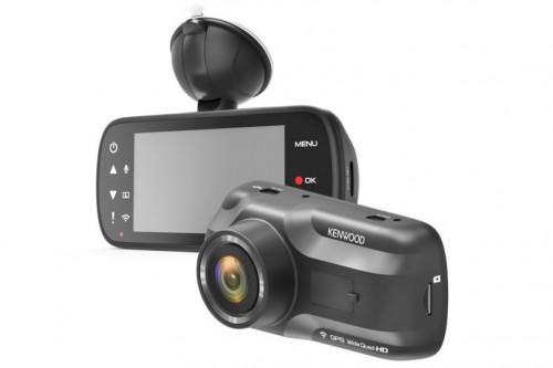 ชุดกล้องบันทึกหน้า หลัง KENWOOD drv A501W + JVC KCA-R100 stand alone Dashcam Recorder with monitor,ด