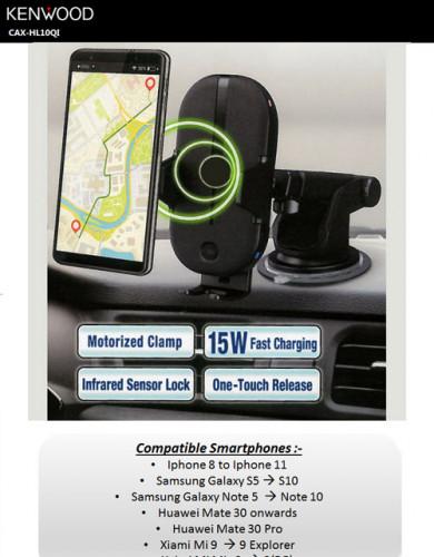 KENWOOD CAX-HL10Qi   Qi wireless charger in car mount อุปกรณ์ชาร์จโทรศัพท์พร้อมแท่นจับในรถ fast char