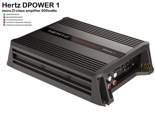 Hertz Dpower1 แอมป์ขับซับ mono class D ชื่อชั้น hi-end กำลังขับ 600วัตต์