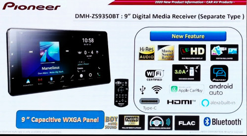 Pioneer DMH ZS9350bt จอคาปาซิทีฟ WXGA digital Media Receiver 9 inches (separate type แบบ NON-DIN ) ม 3