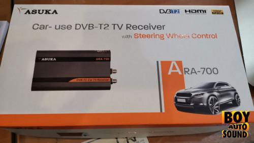 ASUKA ARA-700 กล่อง tv digital สำหรับติดรถยนต์ กล่องรุ่นใหม่ ขนาดกะทัดรัด ซ่อนงานติดตั้งได้เนียน