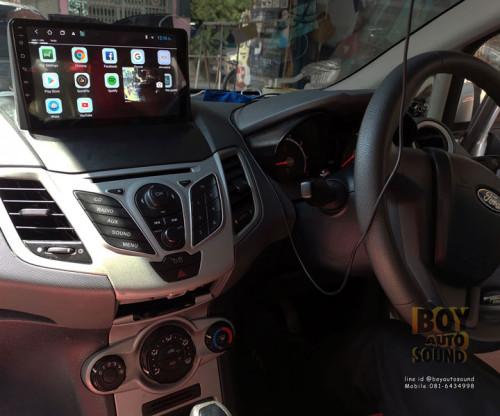 จอแอนดรอยด์ตรงรุ่นรถ FORD FIESTA หน้าจอใหญ่9นิ้ว เล่นyoutube maps joox tv onlineได้สบาย
