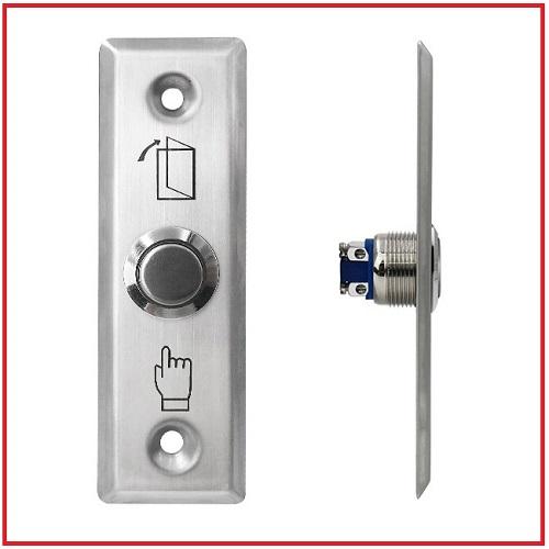 สวิทช์ปุ่มกดสแตนเลสสำหรับประตู มี NO COM sus304 stainless steel Exit switch ปุ่มกดเข้าออก 2
