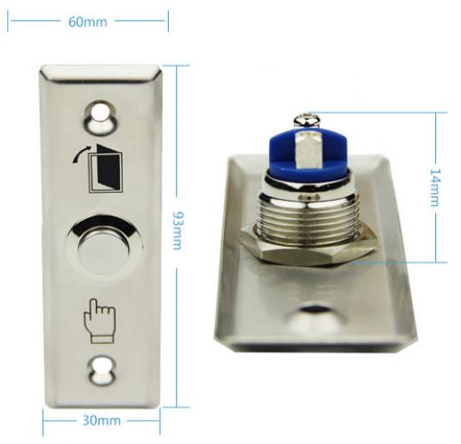 สวิทช์ปุ่มกดสแตนเลสสำหรับประตู มี NO COM sus304 stainless steel Exit switch ปุ่มกดเข้าออก 5