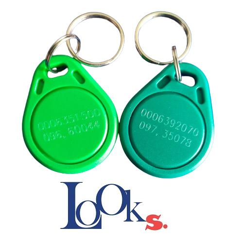 100 อัน กุญแจ RFID สีเขียว ปลดล็อกประตู RFID 125KHz.
