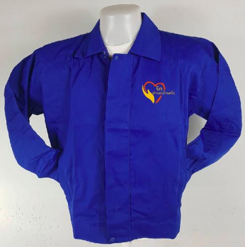 เสื้อแจ็คเก็ตผ้าค้อมทวิว 2 ชั้นซับร่มครึ่งตัวหน้า 1