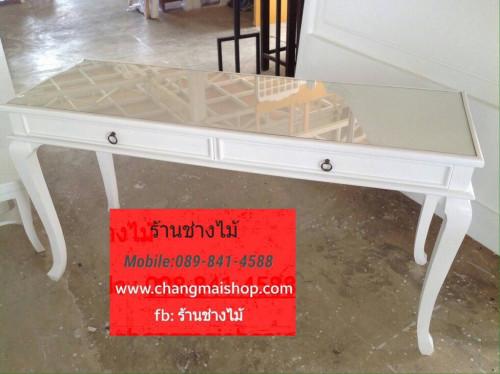 โต๊ะเพ้นเล็บสีขาวสไตล์วินเทจ โต๊ะทำเล็บเจล โต๊ะเอนกประสงค์อื่น ราคาถูกจากโรงงาน