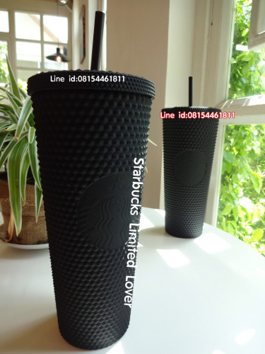 Starbucks USA Matte black studded Cold cup 24 oz is so very elegant so limited แก้วสตาร์บัคส์หนามดำ