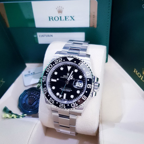 Rolex Sport 116710LN GMT-MASTER ll Green hand มีใบกล่อง อุปกรณ์ครบ