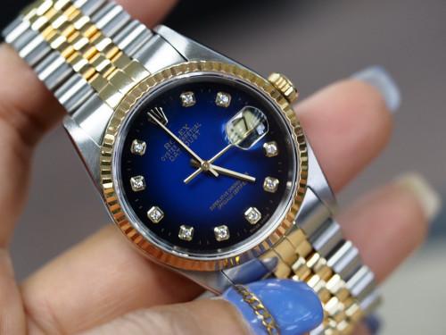 Rolex Datejust 16233 น้ำเงินเพชร