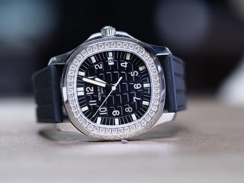 Patek Aquanaut Luce 5067A สีดำ ขอบฝังเพชร