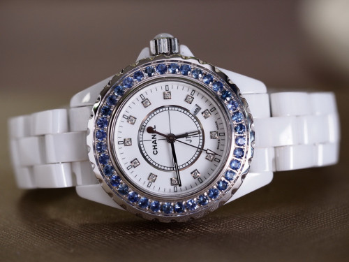Chanel J12 Diamond White Ceramic Blue Supply