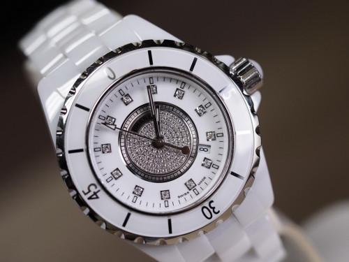 Chanel J12 Diamond White Ceramic 1