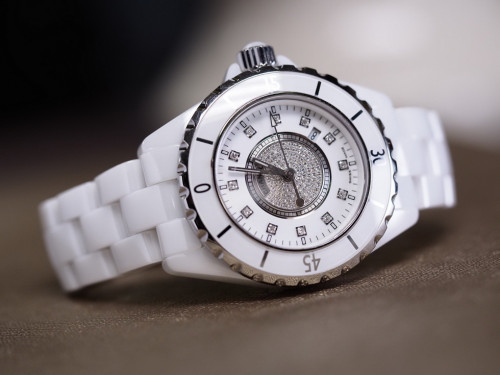 Chanel J12 Diamond White Ceramic