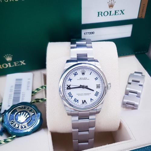 Rolex 177200 หน้าปัดขาวเลขโรมัน ขนาด 31 มิล