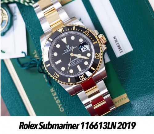 Rolex 116613LN Submariner หน้าปัดดำ ขอบเซรามิก 40 มิล
