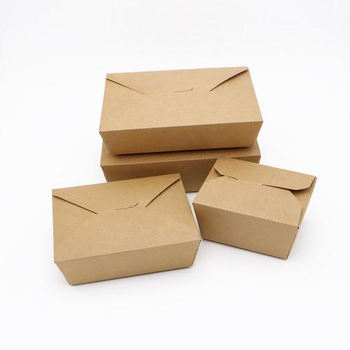 SKY กล่องอาหารคราฟท์ 4 ฝา (ฝาพับ) 3 ขนาด