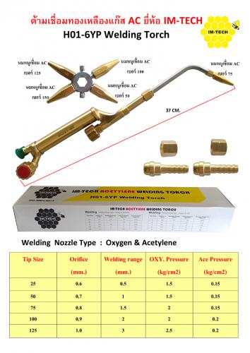 ด้ามเชื่อมทองเหลืองแก๊ส AC ยี่ห้อ IM-TECH (โปรโมชั่น จัดส่งฟรี)