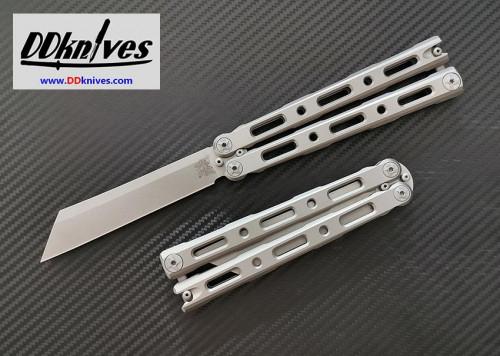มีดบาลิซอง Benchmade 87 Ti Balisong Butterfly CPM-S30V Wharncliffe Blade, Titanium Handles