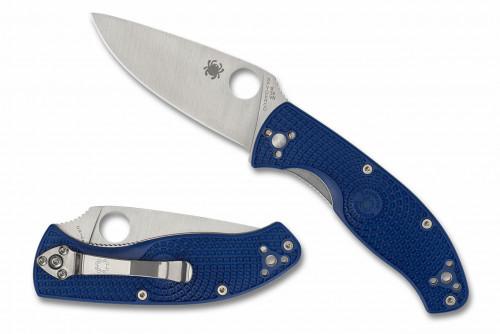 มีดพับ Spyderco Tenacious Lightweight Folding Knife S35VN Plain Blade, Blue FRN Handles (C122PBL)