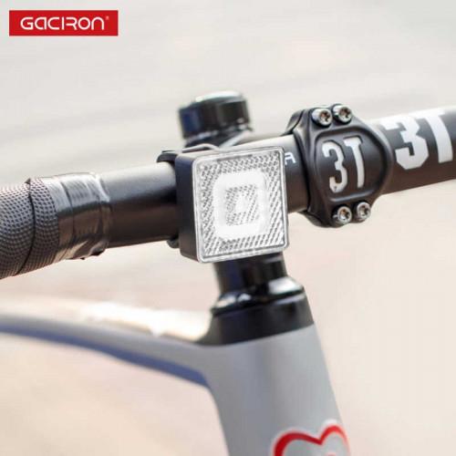 ไฟเตือนหน้าจักรยาน Gaciron W08F-80 Smart Safety warning front light ชาร์จ USB เปิด/ปิด ออโต้