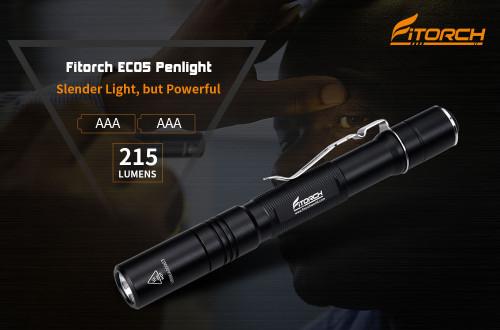Fitorch EC05 215lumens ไฟฉายพกพาขนาดเล็กทรงปากกา ใช้แบต AAA จำนวน 2 ก้อน