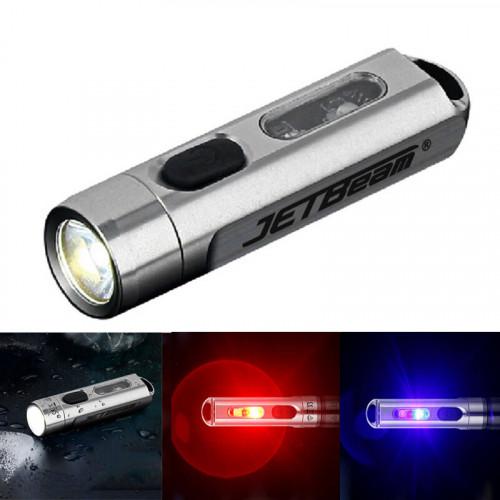 JETBeam Mini One ไฟฉายพวงกุญแจ ไฟ 4 สีและ UV วัสดุสแตนเลส ด้วยขนาดที่เล็ก แต่สว่างมากถึง 500 Lumens