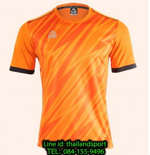 เสื้อ อีโก้ ego sport รหัส eg-5128 (สีส้ม) พิมพ์ลาย