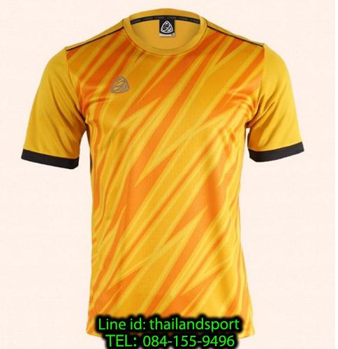 เสื้อ อีโก้ ego sport รหัส eg-5128 (สีเหลือง) พิมพ์ลาย