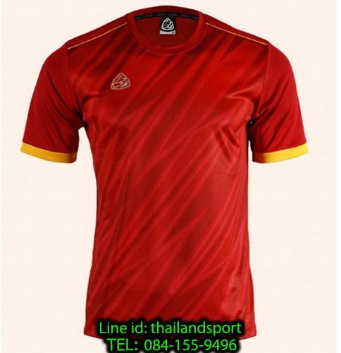 เสื้อ อีโก้ ego sport รหัส eg-5128 (สีแดง) พิมพ์ลาย