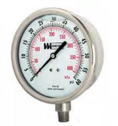 Liquid Pressure Gauge 2-1/2 นิ้ว  0-300 psi.,0-2100 kPa รุ่น LF251 ยี่ห้อ WEISS