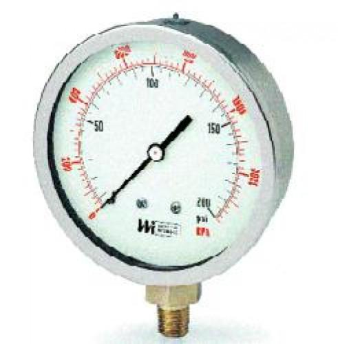 Liquid Filled Gauge 4 Inch. 0-300 psi., 0-2100kpa รุ่น LF441 ยี่ห้อ WEISS