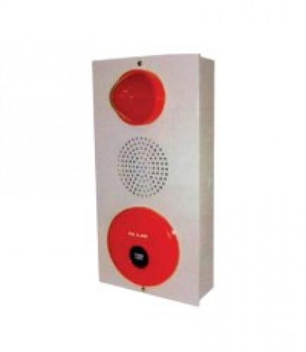 ตู้ Combine เนชั่น ใช้ไฟ ประกอบด้วยกระดิ่ง+ไฟโชว์ตลอด+สวิทช์แบบกด รุ่น YYPBL-220V ยี่ห้อ TYY