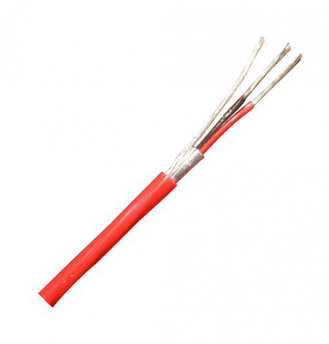 LINK Fire Alarm Shield Twisted Cable 2x18 AWG 1 pair FPLR Riser grade 500m. Model.CB-0218R(Price/m.)