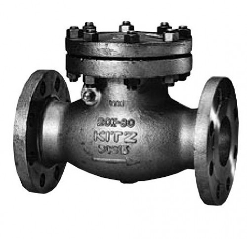 KITZ Stainless Steel Swing Check Valve CF8M 300 Psi. Flanged 5 Inch. model.300UOAM(T)