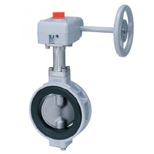 KITZ Ductile Iron Butterfly Valve FCD+ENP, NBR PN10 Wafer Gear Model. PN16DJ/E