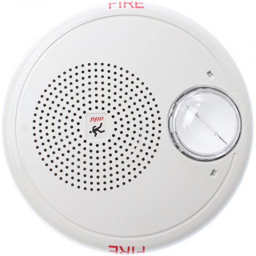 Edwards GCF-S7VM Genesis Multi-CD Ceiling Speaker/Strobe, White, 70VRMS