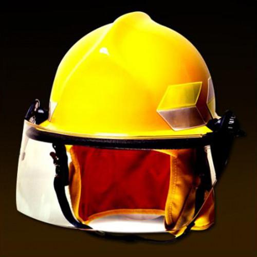 หมวกพนักงานดับเพลิงสีเหลือง รุ่น 911 ยี่ห้อ Chieftain มาตรฐาน NFPA