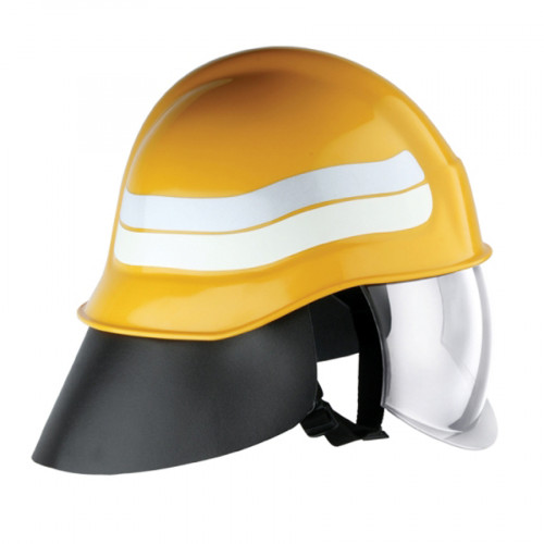 หมวกพนักงานดับเพลิงสีเหลือง รุ่น Compacta ยี่ห้อ PAB มาตรฐาน EN