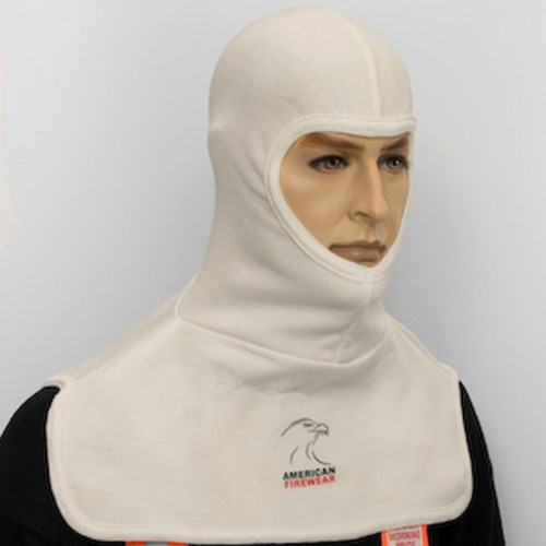 ผ้าคลุมศรีษะ สีขาวยาว 17 นิ้ว ผ้านอร์แมคสองชั้นยี่ห้อ American Firewear (USA)
