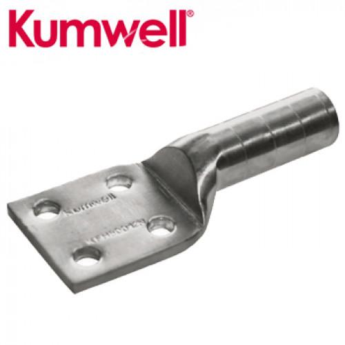 KUMWELL Copper Lugs High Voltage 4 Hole Long Barrel Model. KFH 500-12N