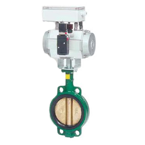 CRANE Ductile Iron Butterfly Valve Series 200 SS304 Disc ,Wafer Type Model. Motorized