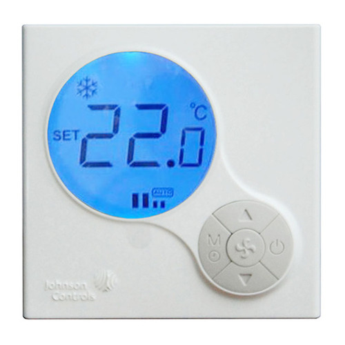 JOHNSON CONTROL Thermostat ,Proportional ,HI-MED-LO Switch ,Digital LED Model.T6634-TE21-9JR0