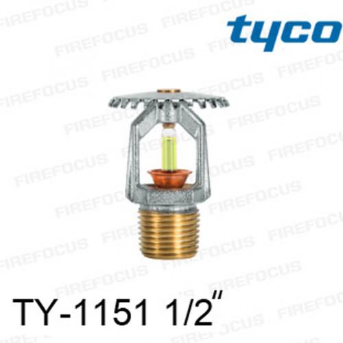 สปริงเกลอร์ แบบอัพไรท์ สีเหลือง TY-B 175F รุ่น TY-1151 (K2.8) 1/2 นิ้ว ยี่ห้อ TYCO