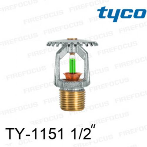 สปริงเกลอร์ แบบอัพไรท์ สีเขียว TY-B 200F รุ่น TY-1151 (K2.8) 1/2 นิ้ว ยี่ห้อ TYCO