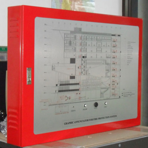 SYSTEM SENSOR Graphic Annunciator Panel one color Aluminium plate Size A3